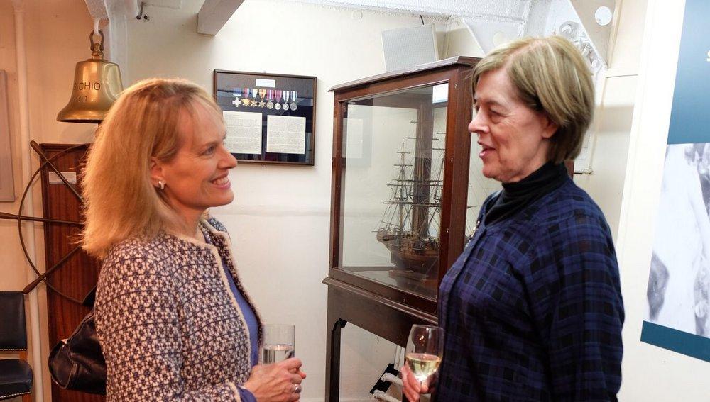 Sue Saville with Alexandra Shackleton